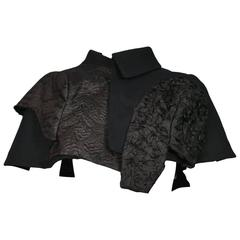Comme des Garcons Abstract Black Capelet SS 2010