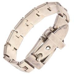 Hallmarked Sterling Silver Buckle Bracelet