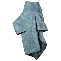 Comme des Garcons Satin Damask Blue Witchess Dress 2016