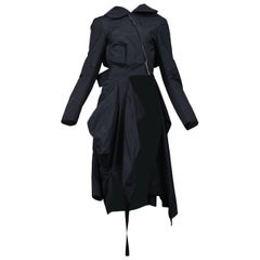 Vintage Comme des Garcons Black Deconstructed Bow Coat AW 2004