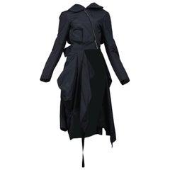 Vintage Comme des Garcons Black Deconstructed Bow Coat AW 2004