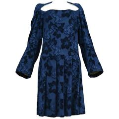 Comme des Garcons Blue Devore Dress AW 1996