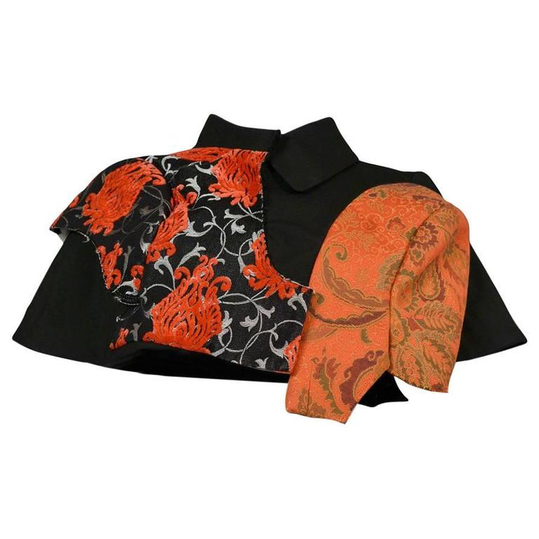 Comme des Garcons Red and Black Cape SS 2009 For Sale