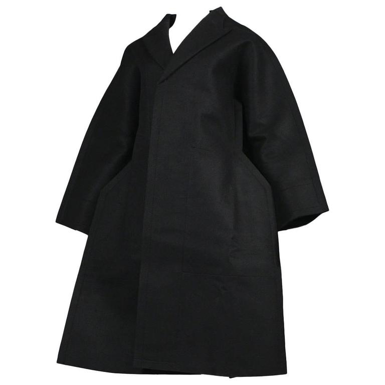 Comme des Garcons Black Felt Flat Jacket 2012 For Sale
