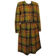 Bonnie Cashin Sills Bolero Jacket & Skirt Suit 2pc Wool Saks Fifth Ave 60s S