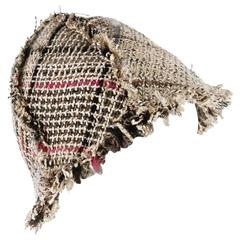 Amazing Chanel Lesage Fringed Fantasy Tweed Hat