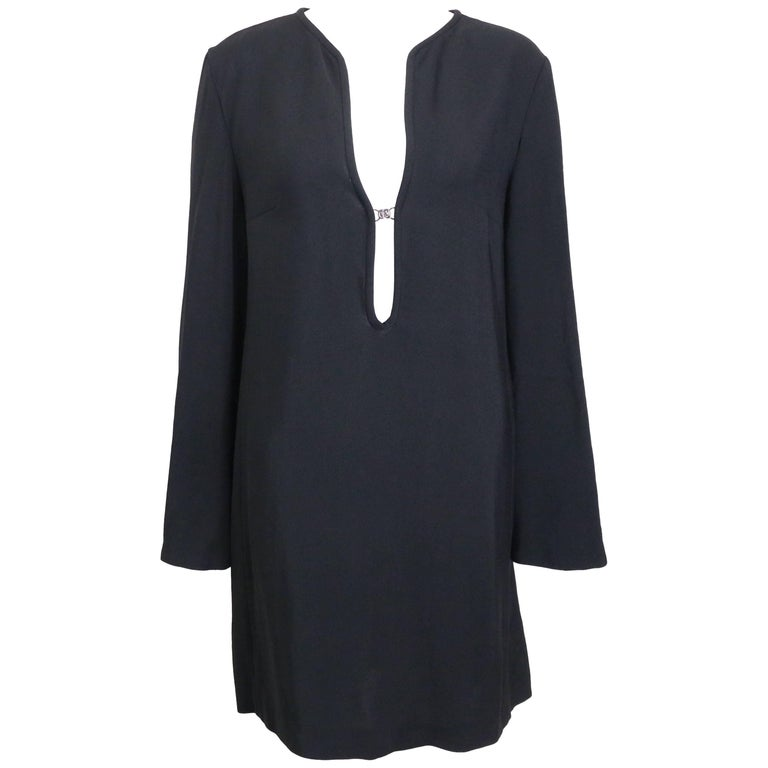 Gucci by Tom Ford Black Tunic Dress  For Sale