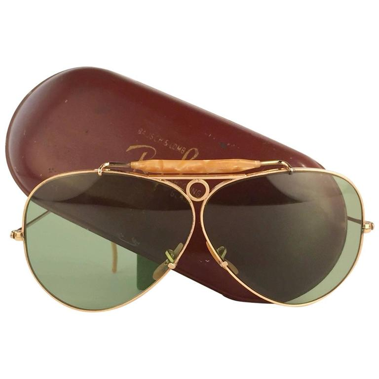 839da62d67 New Ray Ban Shooter 1950 s Classic 12K Gold Filled Collectors USA Sunglasses  at 1stdibs