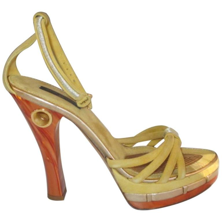 louis vuitton collection cleo pompeii high heels For Sale