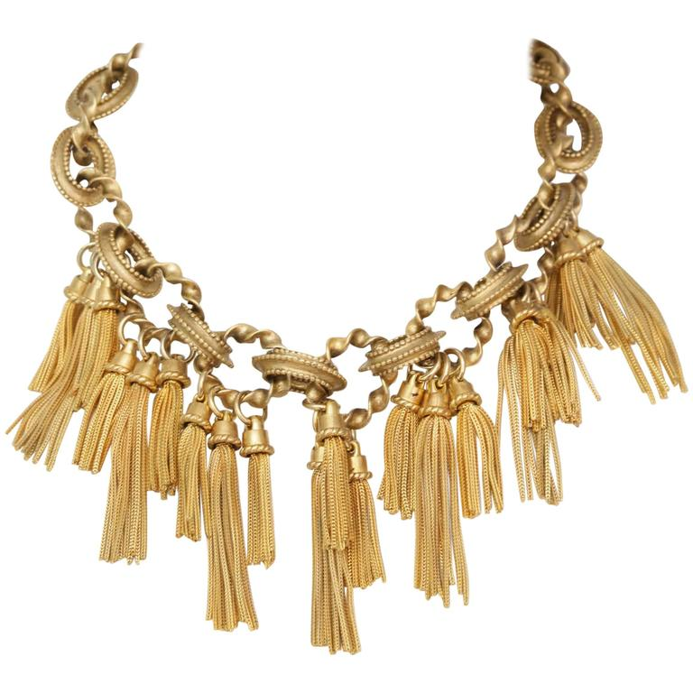 Karl Lagerfeld Goldtone Chain Necklace 1