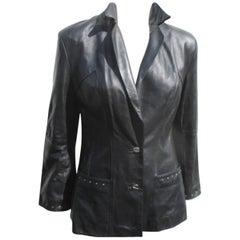 Pierre Cardin Black Leather Jacket