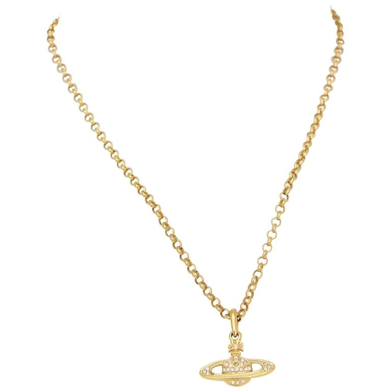 A 1990s Vivienne Westwood Gold Toned Necklace  1