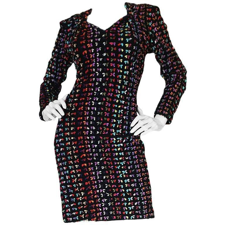 Runway F/W 1988-89 Patrick Kelly Multi Color Bow Dress For Sale