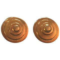 Martha STURDY Vancouver Gold Plated Concentric Disc Earrings