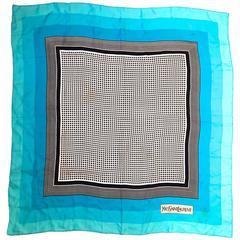 Rare Yves Saint Laurent Scarf - 100% Silk