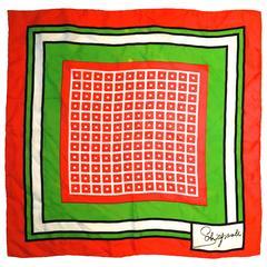 Rare Schiaparelli Early 60's Silk Scarf