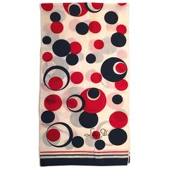 Rare 1960's Lilly D'or Scarf - Mod Geometric Circles