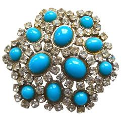 1968 Dior Turquoise Brooch