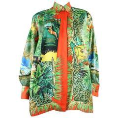 1993 Gianni Versace Silk Tarzan Blouse