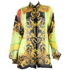 1990's Gianni Versace for Versus Printed Blouse