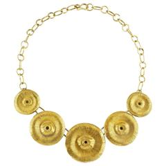 Soli Gold-Plated Bronze Statement Necklace