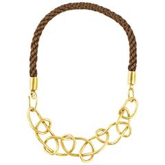 Knot Gold-Plated Bronze Statement Necklace