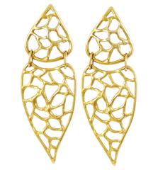 Gold-Plated Bronze Drop Earrings