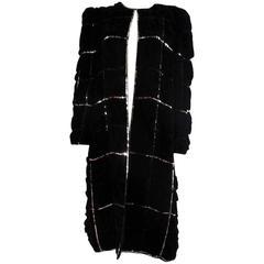 Hubert De Givenchy Haute Couture Velvet Coat Numbered 68583