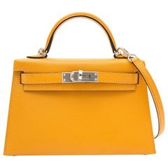 Brand New Hermes Mini Kelly 20 Moutarde