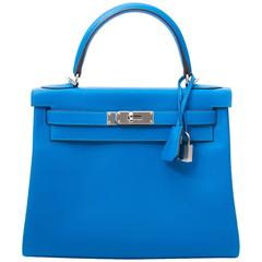 Brand New Hermes Kelly 28 Evercalf Hydra