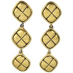 Vintage Chanel Gold Plated Earrings