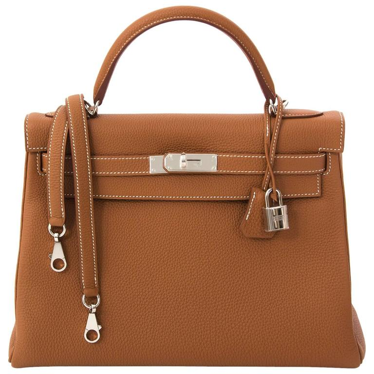 87d4fee0fab36 Hermes Kelly 32 Gold PHW For Sale at 1stdibs