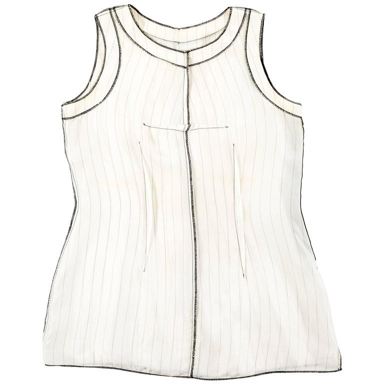 Maison Martin Margiela Spring-Summer 1991 inverted pinstripe vest For Sale