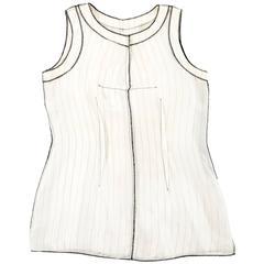 Maison Martin Margiela Spring-Summer 1991 inverted pinstripe vest