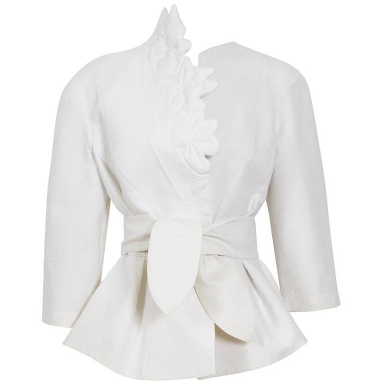 THIERRY MUGLER 1980's White Cotton Jacket 1