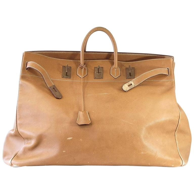 c9de530b4a3 Hermes Birkin Bag 60 Vintage Celebrity Owned Hac Gold Ardennes Brass For  Sale