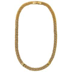 Gianni Versace 1990s gold tone matinee necklace