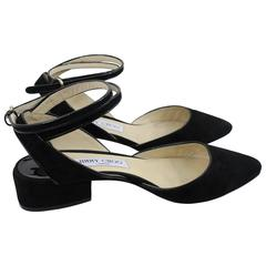 Jimmy Choo nice Suede and Patented Leather Sandals.Size 5.5 US (37 EU)