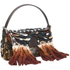 Piece Unique - Fendi Embroidered Large Sequin Baguette Handbag