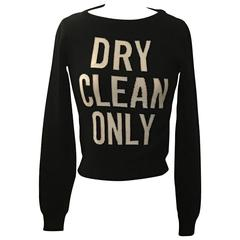 Moschino Couture New with Tags Black and White Dry Clean Only Sweater