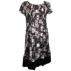 Louis Vuitton Grey Floral Dress (40)