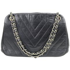Really Vintage 1966 Chanel Shoulder  Bag with Metallic Structure