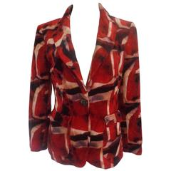 Iceberg Red multicolour Velvet Cotton Jacket