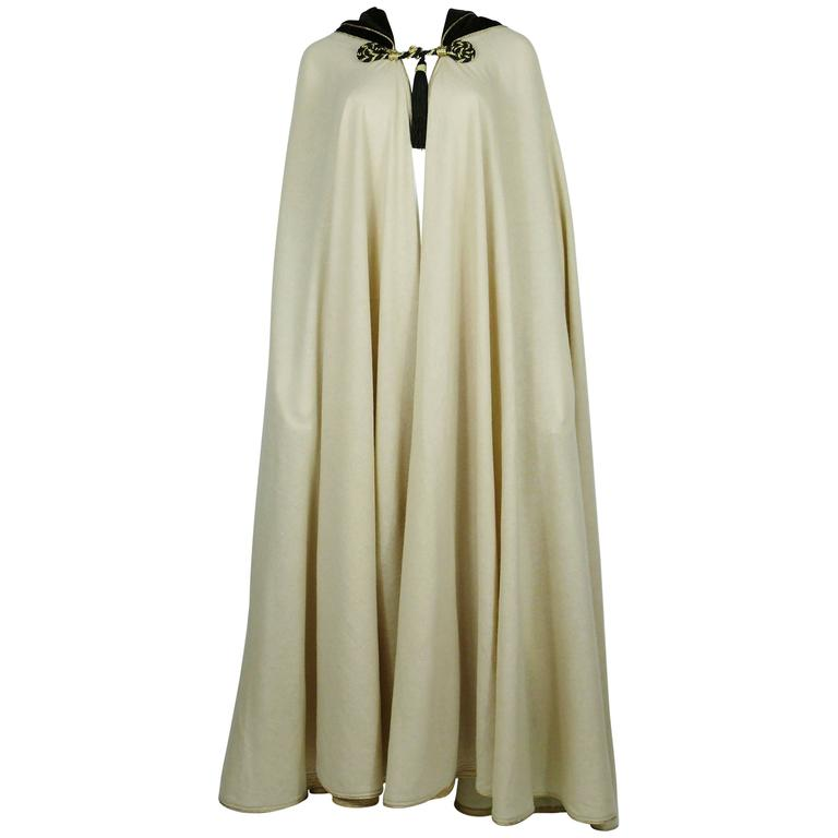 Yves Saint Laurent Vintage 1976 Rare Moroccan Inspired Hooded Cape
