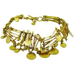 Christian Lacroix Vintage Gold Toned Gipsy Necklace