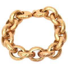 Hand Hammered Gold Plated Link/Chain Bracelet