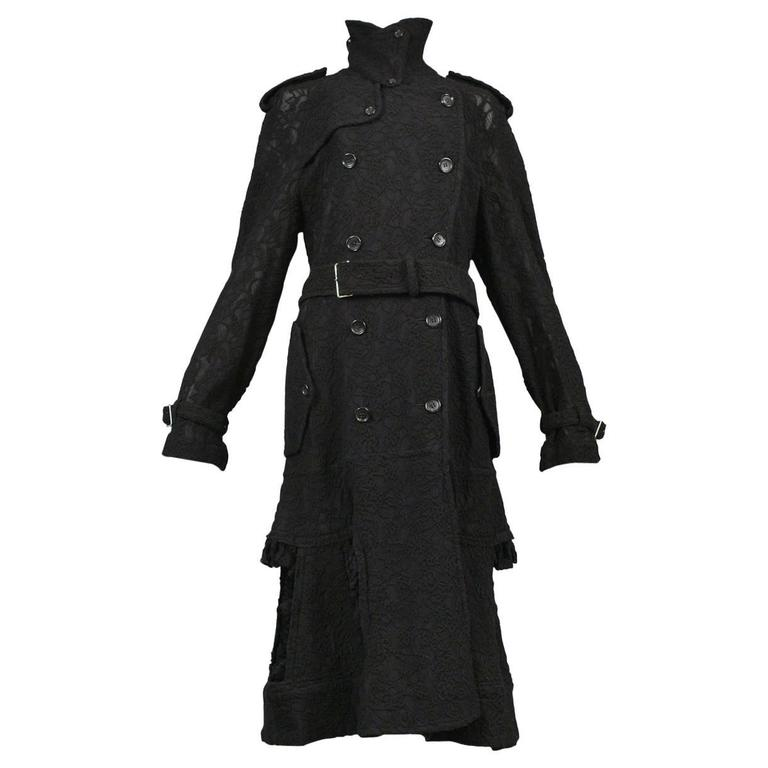 Comme des Garcons Embroidered Trench Coat 2015