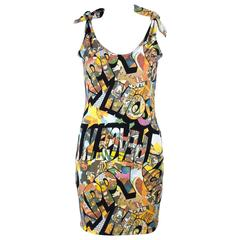 1990s Moschino Happy/ Peace and Love mini dress