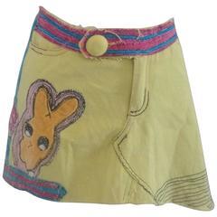 Yellow multicoloured Tim Camino Cotton Skirt