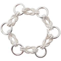 Hermes Silver Sailor Knot Bracelet